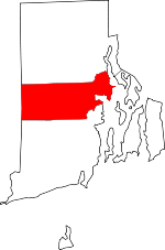 Map of Rhode Island showing Kent County - Click on map for a greater detail.