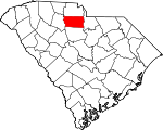 Map of South Carolina showing Chester County - Click on map for a greater detail.