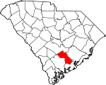 Map of South Carolina showing Dorchester County - Click on map for a greater detail.
