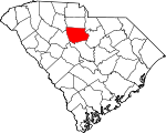 Map of South Carolina showing Fairfield County - Click on map for a greater detail.