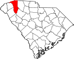 Map of South Carolina showing Greenville County - Click on map for a greater detail.