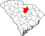 Map of South Carolina showing Kershaw County - Click on map for a greater detail.