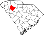 Map of South Carolina showing Laurens County - Click on map for a greater detail.