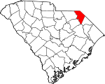 Map of South Carolina showing Marlboro County - Click on map for a greater detail.