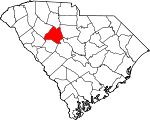 Map of South Carolina showing Newberry County - Click on map for a greater detail.