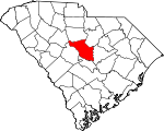 Map of South Carolina showing Richland County - Click on map for a greater detail.