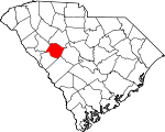 Map of South Carolina showing Saluda County - Click on map for a greater detail.