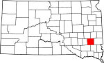Map of South Dakota showing McCook County - Click on map for a greater detail.