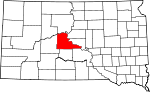 Map of South Dakota showing Stanley County - Click on map for a greater detail.