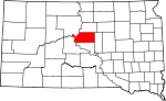 Map of South Dakota showing Sully County - Click on map for a greater detail.