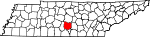 Map of Tennessee showing Bedford County - Click on map for a greater detail.