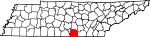 Map of Tennessee showing Franklin County - Click on map for a greater detail.