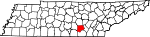 Map of Tennessee showing Grundy County - Click on map for a greater detail.