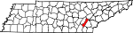 Map of Tennessee showing Meigs County - Click on map for a greater detail.