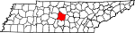 Map of Tennessee showing Rutherford County - Click on map for a greater detail.