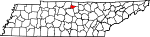 Map of Tennessee showing Trousdale County - Click on map for a greater detail.