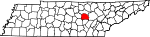 Map of Tennessee showing White County - Click on map for a greater detail.