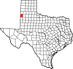 Map of Texas showing Bailey County - Click on map for a greater detail.