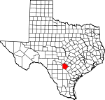 Map of Texas showing Bexar County - Click on map for a greater detail.