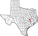 Map of Texas showing Brazos County - Click on map for a greater detail.