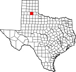 Map of Texas showing Briscoe County - Click on map for a greater detail.