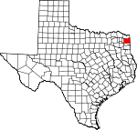 Map of Texas showing Cass County - Click on map for a greater detail.
