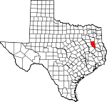 Map of Texas showing Cherokee County - Click on map for a greater detail.