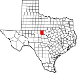 Map of Texas showing Coleman County - Click on map for a greater detail.