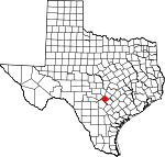 Map of Texas showing Comal County - Click on map for a greater detail.