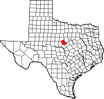 Map of Texas showing Comanche County - Click on map for a greater detail.