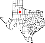 Map of Texas showing Dickens County - Click on map for a greater detail.