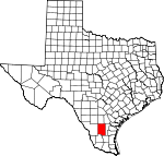 Map of Texas showing Duval County - Click on map for a greater detail.