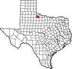 Map of Texas showing Foard County - Click on map for a greater detail.
