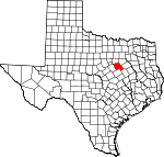 Map of Texas showing Hill County - Click on map for a greater detail.