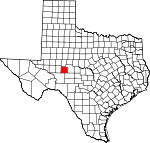 Map of Texas showing Irion County - Click on map for a greater detail.
