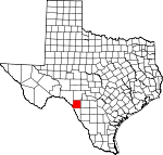 Map of Texas showing Kinney County - Click on map for a greater detail.