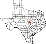Map of Texas showing Lampasas County - Click on map for a greater detail.
