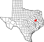 Map of Texas showing Leon County - Click on map for a greater detail.