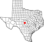 Map of Texas showing Mason County - Click on map for a greater detail.