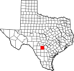 Map of Texas showing Medina County - Click on map for a greater detail.