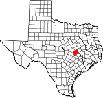 Map of Texas showing Milam County - Click on map for a greater detail.