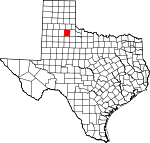 Map of Texas showing Motley County - Click on map for a greater detail.