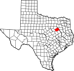 Map of Texas showing Navarro County - Click on map for a greater detail.