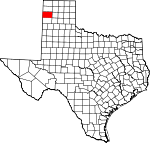 Map of Texas showing Oldham County - Click on map for a greater detail.