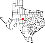 Map of Texas showing Runnels County - Click on map for a greater detail.