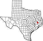 Map of Texas showing San Jacinto County - Click on map for a greater detail.