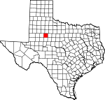 Map of Texas showing Scurry County - Click on map for a greater detail.