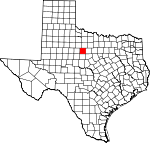 Map of Texas showing Shackelford County - Click on map for a greater detail.