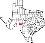 Map of Texas showing Sutton County - Click on map for a greater detail.