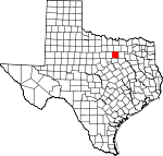 Map of Texas showing Tarrant County - Click on map for a greater detail.